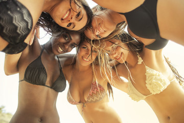 Beautiful young women on vacation