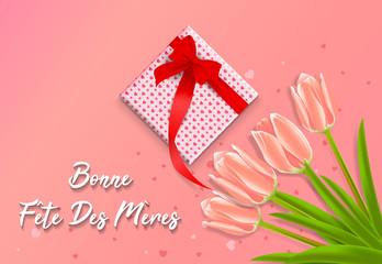 à forme de coeur avec salutation - Bonne fête des mères