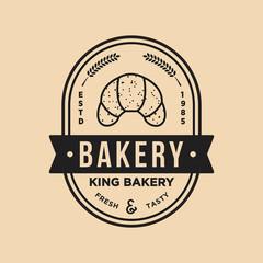 Bakery badge vector logo icon illustration