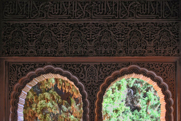 alhambra  archs close up picture