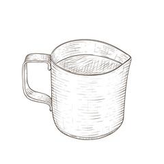 Milk jug. Hand drawn sketch