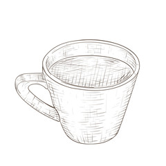 Cup of coffee. Hand drawn sketch