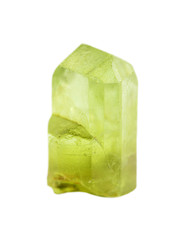 Green gemstone chrysolite