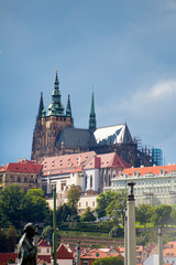 Prague castle on a cloudy day