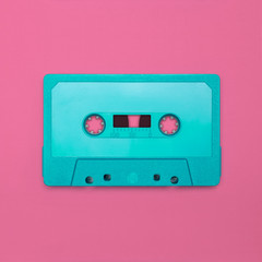 Cassette tape nostalgia, isolated and presented in punchy pastel colors, for creative design cover, poster, book, printing, gift card, flyer, magazine, web & print
