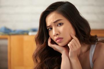 Pretty unhappy woman