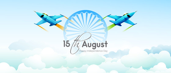 nice and beautiful abstract or poster for 15th of August or Independence Day of India with nice and creative design illustration in a background.