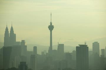Foto op Aluminium Kuala Lumpur kuala lumpur moning view with fogs