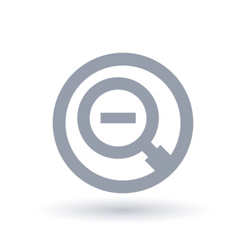 Magnifying glass minus icon - Zoom out symbol