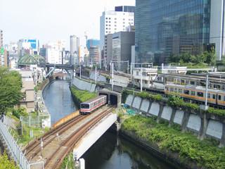 御茶ノ水駅 聖橋からの風景