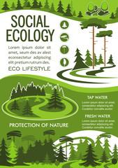 Nature resource conservation banner for eco design