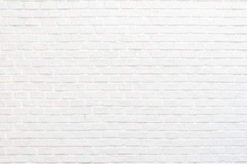 Poster Baksteen muur White brick wall texture background with stained old stucco light gray and aged painted cement block for room interior rustic vintage wallpaper decoration