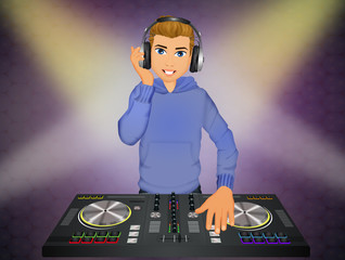 DJ at the console