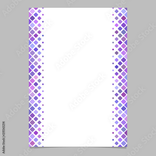 Abstracvt Brochure Border Template From Purple Diagonal Square