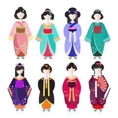 Japanese Geisha in kimono