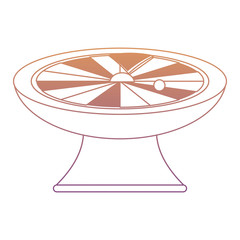 Roulette Wheel icon over white background, colorful design. vector illustration