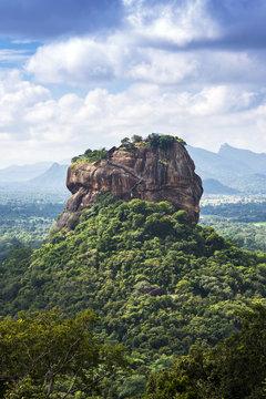 Lion Rock viewed from Pinduragala Rock, Central Province, Sri Lanka