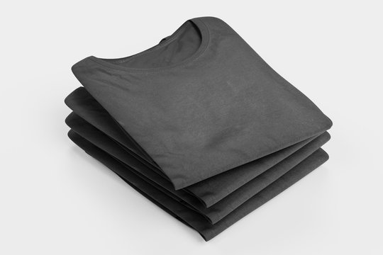 Realistic 3D Render of Folded T-Shirt