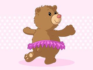 Tanzender Comic Bär