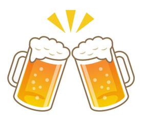 ビールでカンパイ!