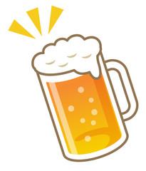 生ビール ジョッキのイラスト