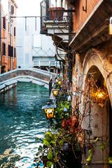 VENICE, ITALY- December 21, 2017 : restaurant in Venice,ITALY