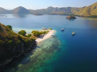 Aerial view of tropical islands, Pulau Kelor, East Nusa Tenggara, Indonesia
