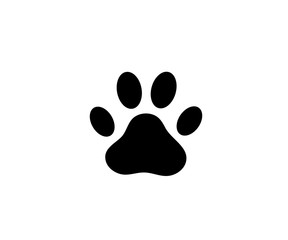 Cat or dog paw icon