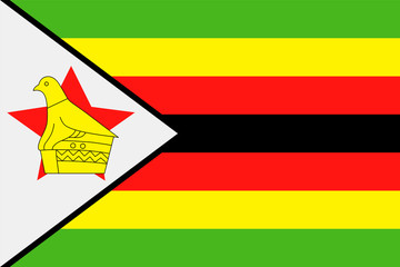 Zimbabwe Flag Vector Flat Icon