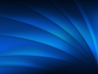 Blue abstract background. Lines. Waves. Glow