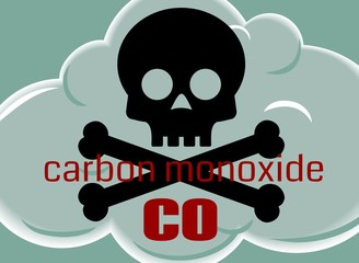 Carbon Monoxide Poisonous Gas Cloud Symbol