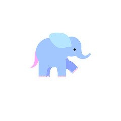 Blue elephant illustration