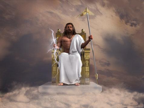 Ilustración del dios Zeus