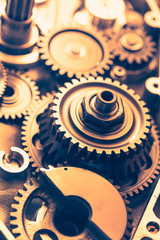 industrial gear wheels, close-up view