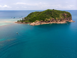 Aerial drone view of Koh Ma island