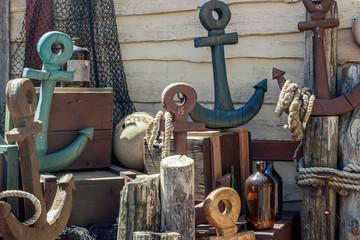 retro navigation decoration objects