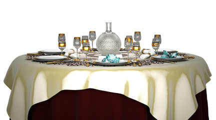 Cena di diamanti, illustrazioni 3d