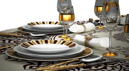 Cena di Lusso, illustrazioni 3d
