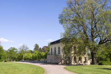 Altenburg / Germany: The impressive baroque tea house in the public castle garden