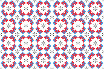 Seamless pattern for festive New Year's packaging paper. Gifts and snowflakes