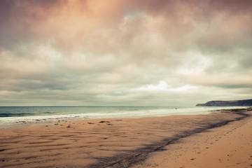 Coastal landscape, beach of Porto Santo