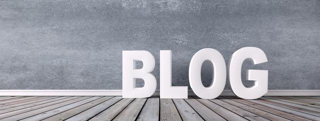 Blog - Buchstaben vor Steinwand