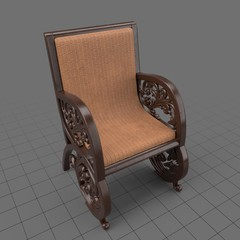 Antique semarang chair