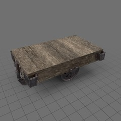 industrial wooden cart table