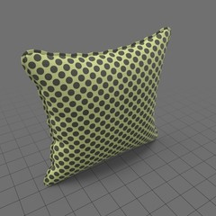 Square pillow with polkadots