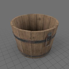 Old fashioned wooden bucket