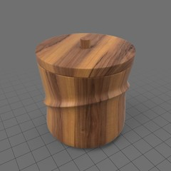 Wooden ice bucket