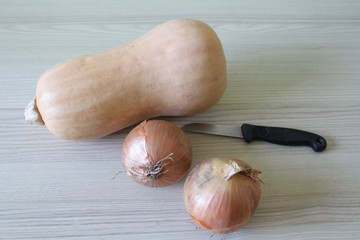 Butternut and onions