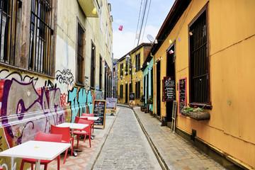 Street scene UNESCO City of Valparaiso, Chile