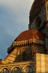Closeup of Cathedral at sunrise, Florence, Italy.